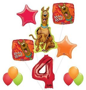 Scooby Doo 4th Birthday Party Supplies And Balloon Decorations