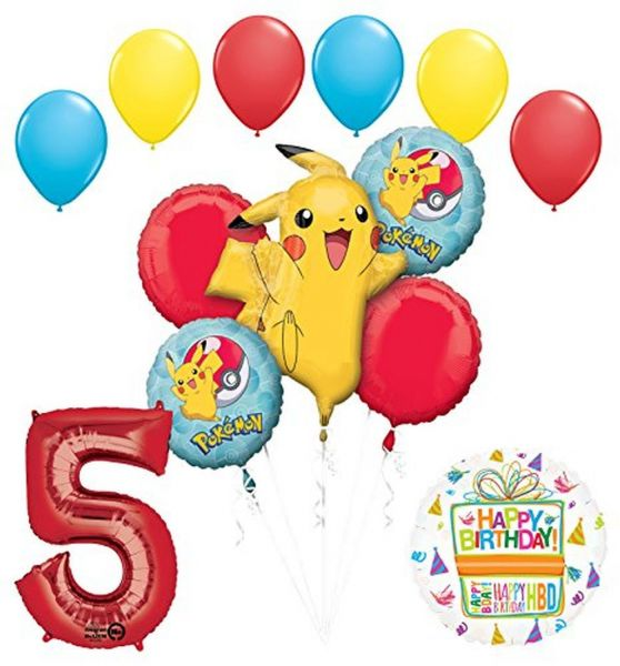 Mayflower Products Pokemon 5th Birthday Party Supplies And Balloon