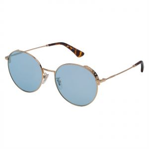 Police Round Sunglasses for Men - Blue Mirror Silver Lens 4d6fd8ad20
