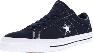d8e86e33ec1ef5 Converse One Star Pro Ox Obsidian   White Ankle-High Suede Fashion Sneaker  - 12M 10M