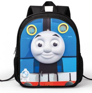 13inch Kindergarten Cartoon Thomas Animation Locomotive casual shoulder bag  Boys Girls load reducing backpack for students 9cec39a98b