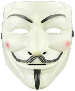 4174d8cb98ee Halloween Party Masks V for Vendetta Mask Anonymous Guy Fawkes Fancy Dress  Adult Costume Accessory Party Cosplay Mask