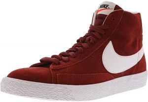 87989901b1bc Nike Men s Blazer Mid Prm Team Red   White - Gum Light Brown Mid-Top  Leather Basketball Shoe 10.5M