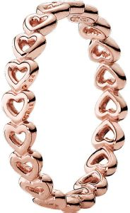 4296cabb8 Pandora Women's Gold Plated Rose Heart Stacking Ring- 180177-56