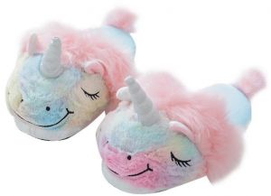 5ab926d11cc Winter Cartoon Unicorn Slippers Girls Lovely Home Cotton Slippers