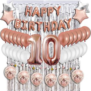 10th Birthday Decorations Party Supplies Sweet 10 Balloons