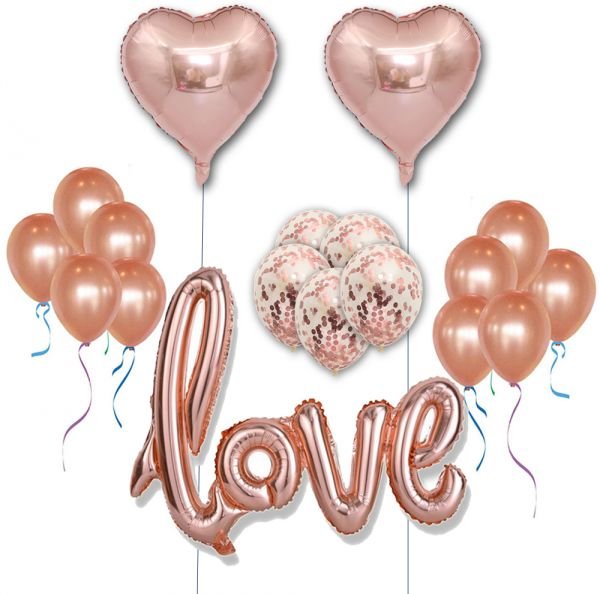 Rose Gold Foil And Latex Balloon Sets Helium Wedding Birthday Hen Party Decor