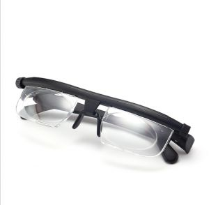 f9fefd2953ca Presbyopic glasses Reading for Unisex Magnifier 3D Portable Light Rimless  Clear Adjustable