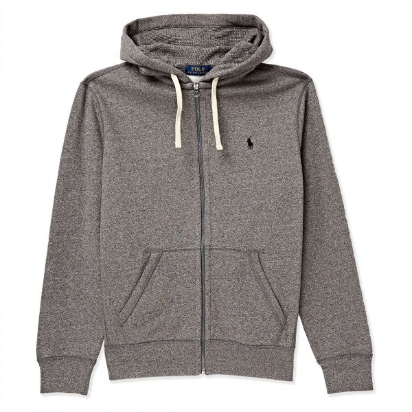 4fd0b1b3f43bef Polo Ralph Lauren Classic Solid Fleece Hoodie Jacket for Men - L, Grey |  KSA | Souq