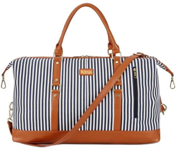 Canvas Travel Duffel Bag Tote Bags for Women Men Stripes Handbags Sport  Outdoor Bag Carry on Holdalls Weekender Leather Decoration  c216517e4c