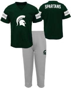 03e91bf42 NCAA Michigan State Spartans Toddler Training Camp Top & Short Set, 4T,  Hunter Green
