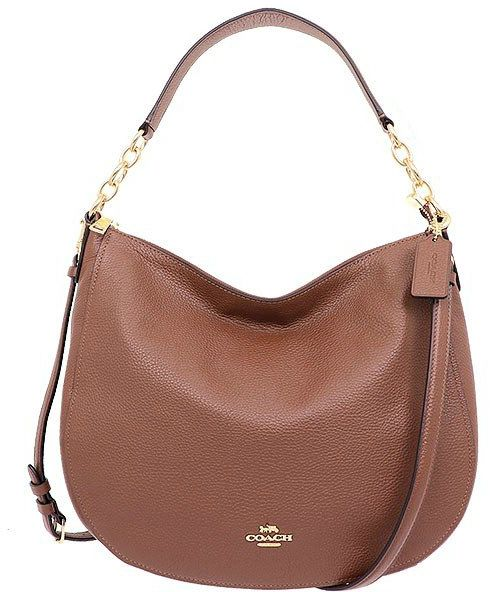 74c5e9d91378 Coach Elle Hobo Shoulder Bag In Pebble Leather F31399 Imeb0