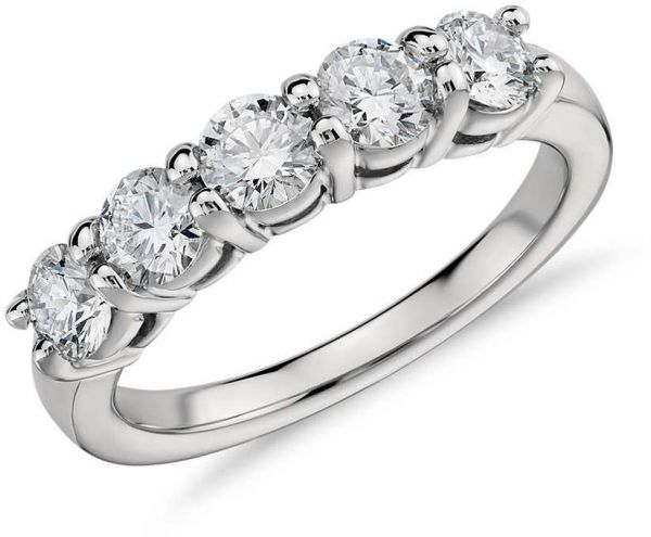 Solitaire Like 5 Stones Cubic Zirconia Engagement Ring For Women Us7 Price In Egypt Souq Egypt Kanbkam