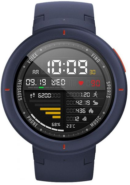 Amazfit Verge Smartwatch by Huami with GPS Plus GLONASS All-Day Heart Rate and Activity Tracking, Sleep Monitoring, 5-Day Battery Life, Bluetooth, IPX68 Waterproof - A1811 Blue