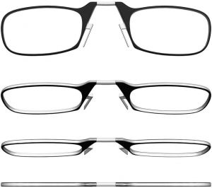 3829b49c4 AREO Optics Reading Glasses + Black Universal Pod Case | Classic  Collection, Black Frames, Strength/Power +2