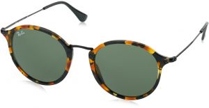 c3114f19de Ray-Ban ACETATE MAN SUNGLASS - SPOTTED BLACK HAVANA Frame GREEN Lenses 52mm  Non-Polarized