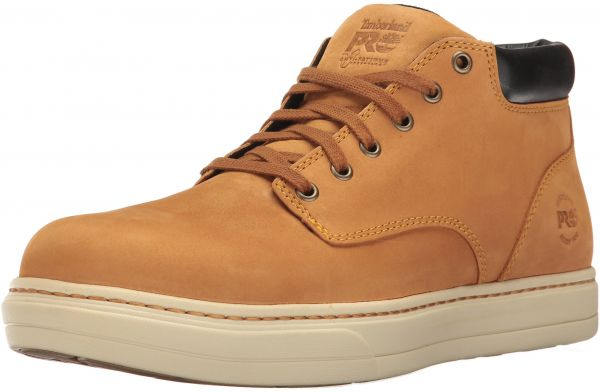 43c1307bf1d Timberland PRO Men's Disruptor Chukka Alloy Safety Toe EH Industrial and  Construction Shoe, Wheat Nubuck, 11.5 W US