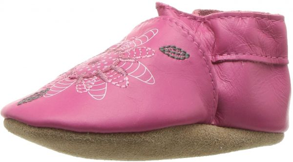 Robeez S Elephant Ed Crib Shoe Fiona Flower Hot Pink 18 24 Months M Us Infant Souq Uae