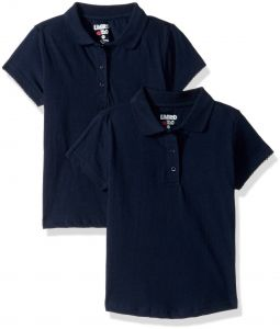11217019b Limited Too Girls' 2 Pack Polo Shirt (More Styles Available), Classic Navy,  10/12