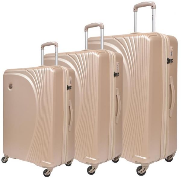 Track Luggage Trolley Bags Set of 3 PCS  28103df614c6a
