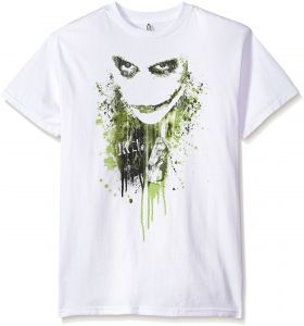 c97e236e2 Trevco Men's Batman Dark Knight Short Sleeve T-Shirt, White, Small