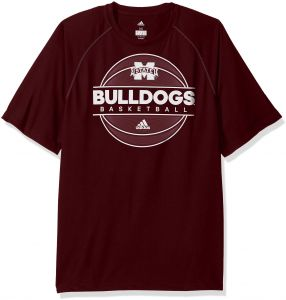 f4a8dd5b592a adidas NCAA Mississippi State Bulldogs Mens 2017 On Court Climalite  S Tee2017 On Court Climalite S Tee
