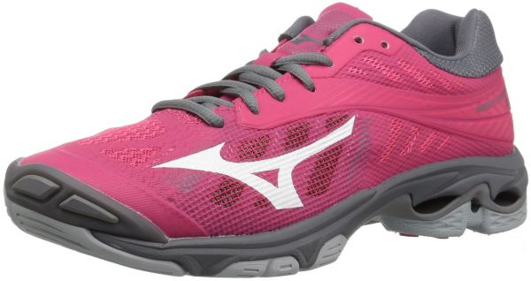 7c9acf2a376d Mizuno Women's Wave Lightning Z4 Volleyball Shoe, Azalea Pink/Charcoal  Grey, Women's 8 B US | KSA | Souq