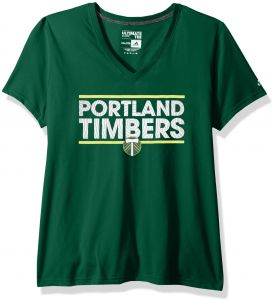 d1aced29572 adidas MLS Portland Timbers Adult Women Dassler Pattern Ultimate S V-Neck  Tee