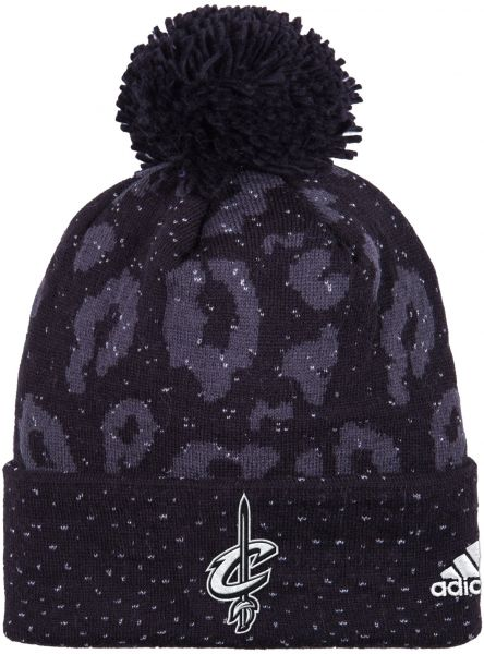 NBA Cleveland Cavaliers Women s Black Out Print Cuffed Knit Beanie ... b4895e60e