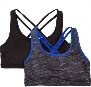 c71b841191e7e Fruit of the Loom Big Girls  Strappy Back Sports Bra (Pack of 2)