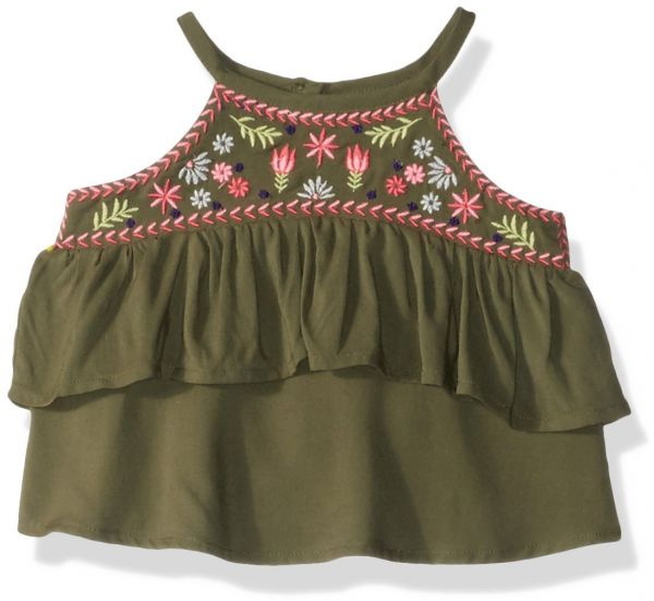 54fa795eaf39f0 Crazy 8 Toddler Girls  Woven Tank Top