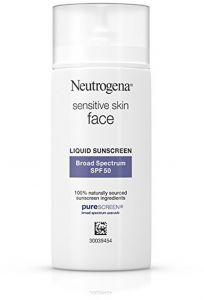 f7f22ee3a Neutrogena Face sunscreen for Sensitive Skin from Naturally Sourced  Ingredients with Zinc Oxide, Broad Spectrum SPF 50, 1. 4 fl. Oz