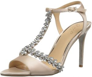 48bc0a00ad6 Sale on badgley mischka jewel womens mildred heeled sandal champagne ...