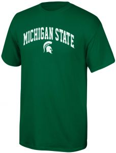 74d99bba Elite Fan Shop NCAA Michigan State Spartans Mens NCAA T Shirt Team Color  ArchNCAA T Shirt Team Color Arch, Forest Green, XX Large