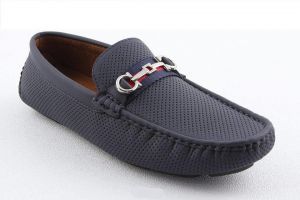 05f9560d74166 HINZ Navy Blue Loafers   Moccasian For Men