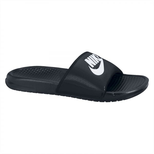 meet 3c4ad 1100e Nike Benassi JDI Slide Slippers for Men - Black White   Souq - UAE