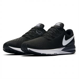 22ee490e367 Nike air Zoom Structure 22 Running Shoes for Men - Black White