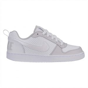 best website be766 c3e49 Nike Court Borough Low Gs Basketball Shoes for Kids - White Vast Grey