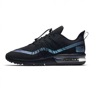 sale retailer 27f01 28dff Nike air Max Sequent 4 Utility Running Shoes for Men - Black/Racer Blue