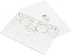 488a5d433567 Pearl Paper Party Invitation Cards Set for Wedding Engagement Birthday  (10pcs Invitation Holders 10pcs Inner Sheets 10pcs Envelopes 10pcs  Stickers)--White