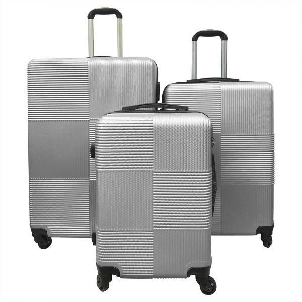 687970c8a Travel hard luggage, Trolley Bag, Luggage sets, Suitcase sets of -20 24 28-  with TSA Number Lock for USA travelers RF-008 Grey | KSA | Souq