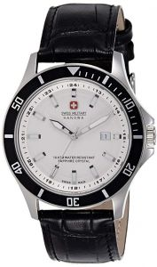 c05e900f8 Swiss Military Casual Watch , Leather Band , Analog Type for Men - W  S6-4161.2.04.01.07