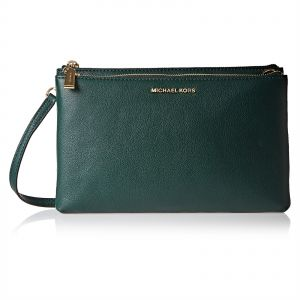 3adce00e5999 Michael Kors 32S7GaFC3L 305 adele Double Zip Crossbody Bag for Women -  Leather, Green