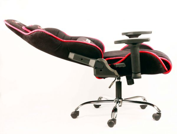 Leader Gaming Chair In Black Red Line Fabric From Leaders Furniture