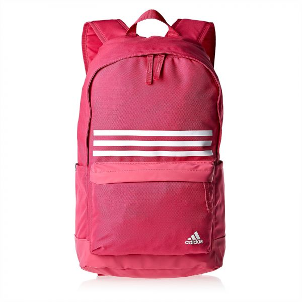 adidas DT2619 3-Stripes Classic Pocket Backpack for Women - Pink. by adidas b887bbbd4d452
