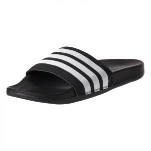 b31a6e6a9bdd45 adidas Adilette Stripes Slides Flat Sandals for Women - Core Black White