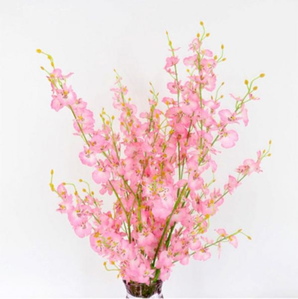 95 Cm Length Silk Flower Dancing Orchid Artificial Flowers Branch