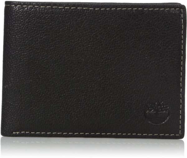 ac7b7ab78b404 Timberland Men s Genuine Leather RFID Blocking Passcase Security Wallet