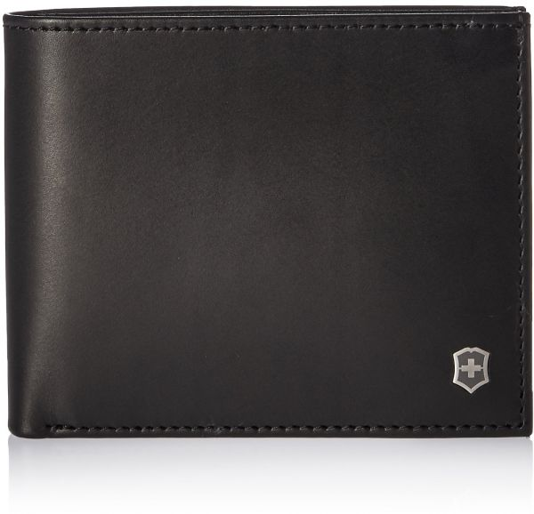 Victorinox Men's Altius Edge Zenon Bi-fold Wallet With Rfid Accessory, black leather, L
