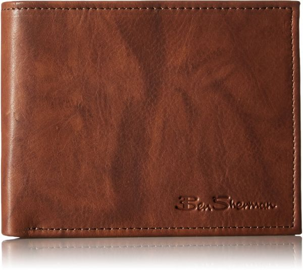 dc865ae079ef Manchester Full Grain Cowhide Marble Crunch Leather Passcase Wallet With Flip  Up ID Window With RFID